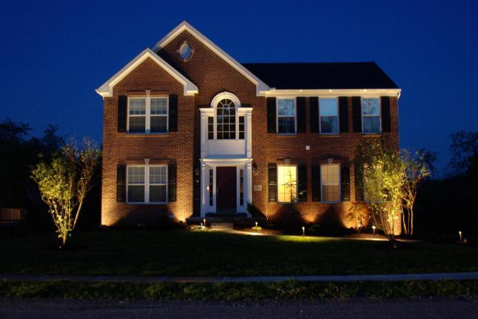 Up Lighting on House