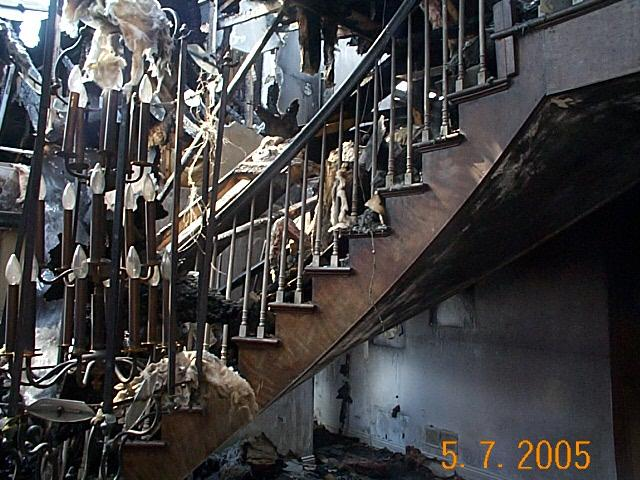 Staircase after Fire before Fi