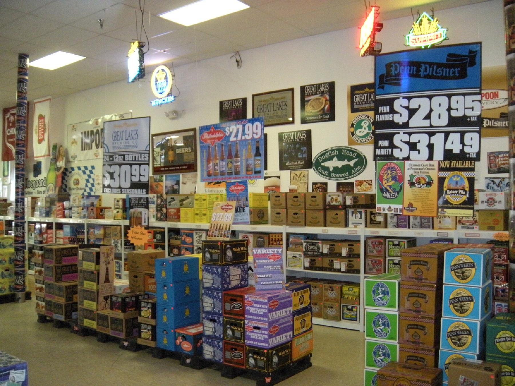 CRAFT AND IMPORT BEER WALL