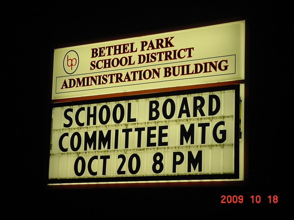 BETHEL PARK SCHOOL ADMIN.