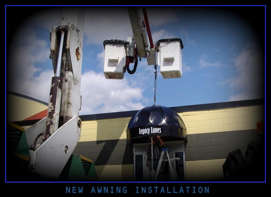 New awning installation