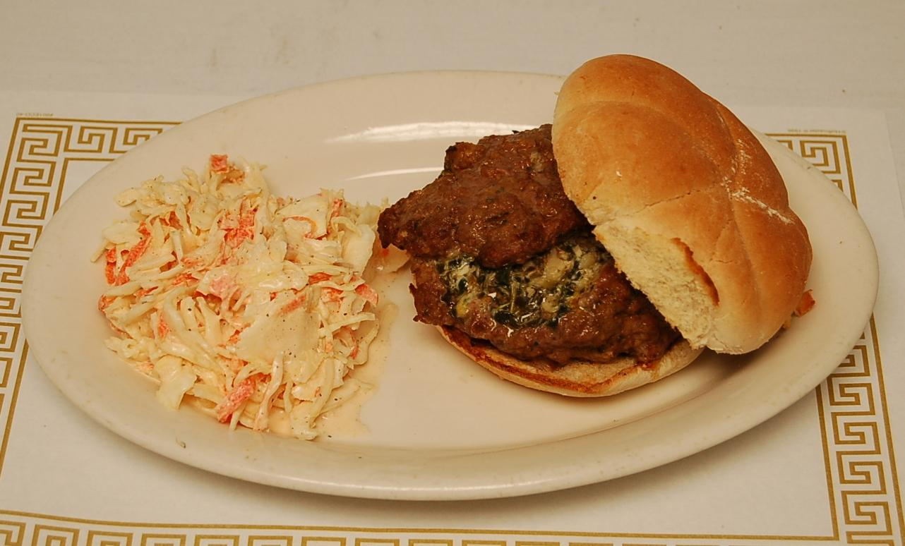 Spinach & Artichoke Dip Stuffed Burger*