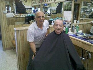 Pat Enjoying his Customer