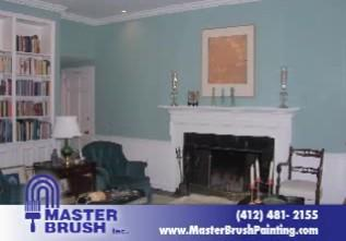 Living Room Painted by Pro's MasterBrush Painting!