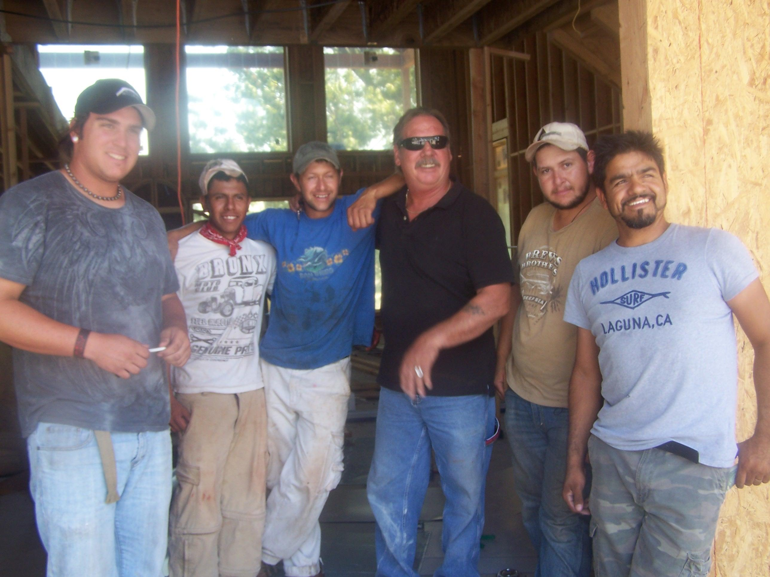 Some of the Crew from Moores Roofing