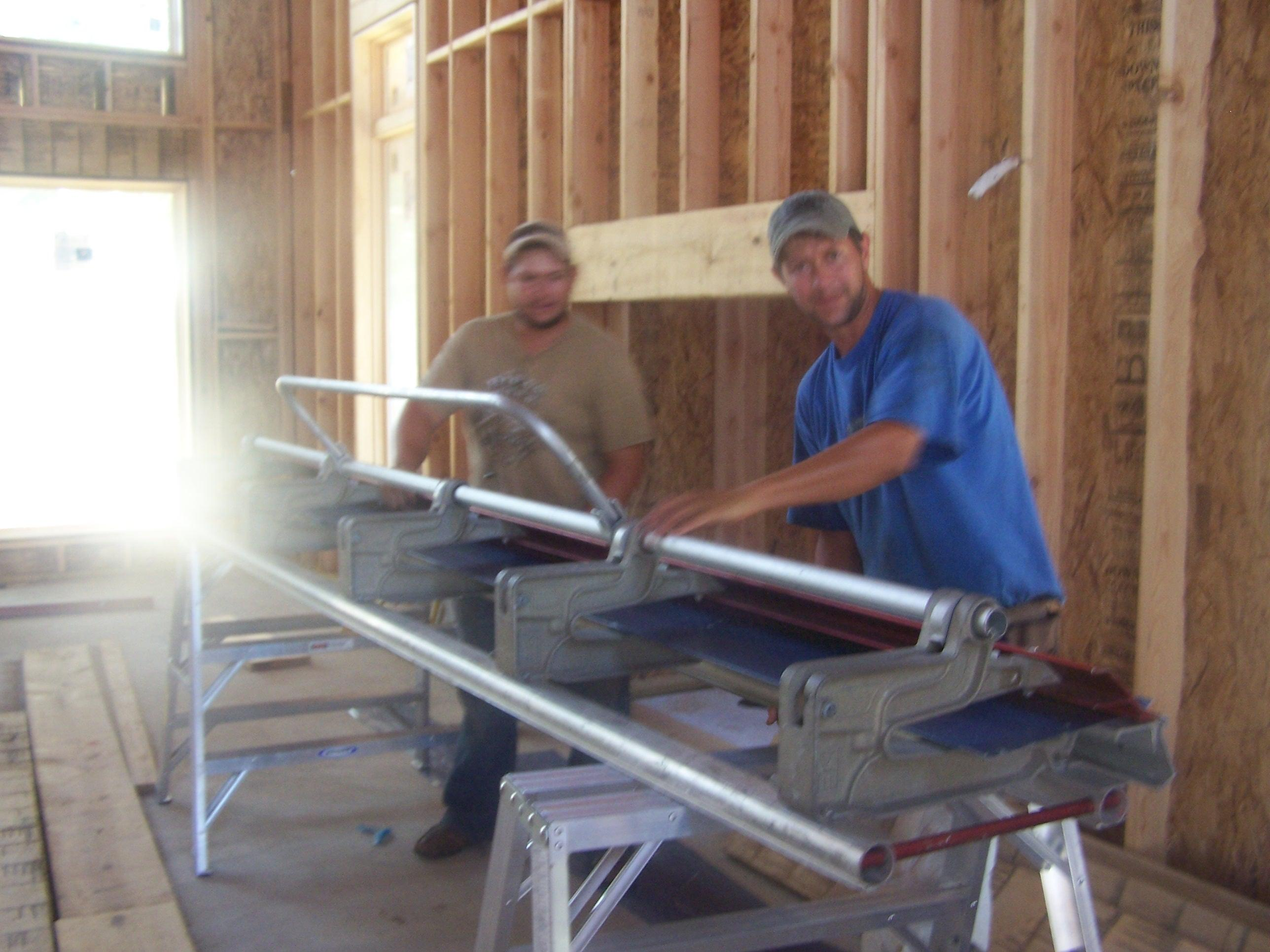 Moores Roofing Guys Hard At Work!