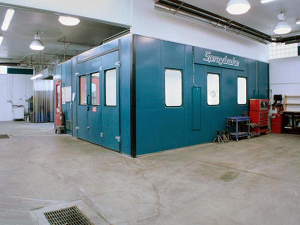 Environmentally Controled Spray Paint Booth