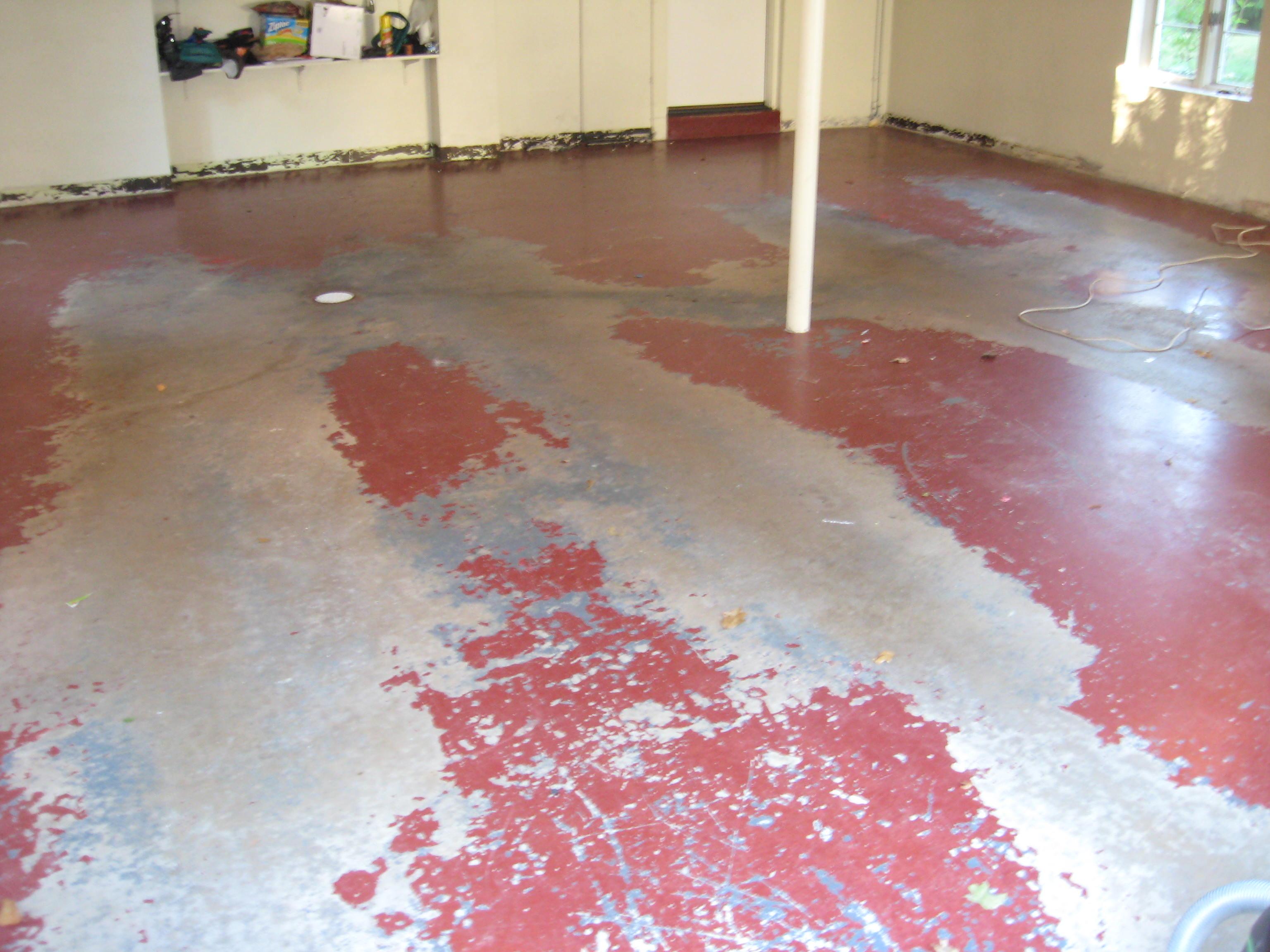 Garage Floor Before Picture.