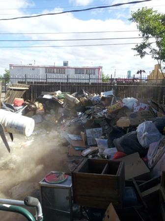 Large Trash Clean Up Before 24/7 Haul Trash Remova