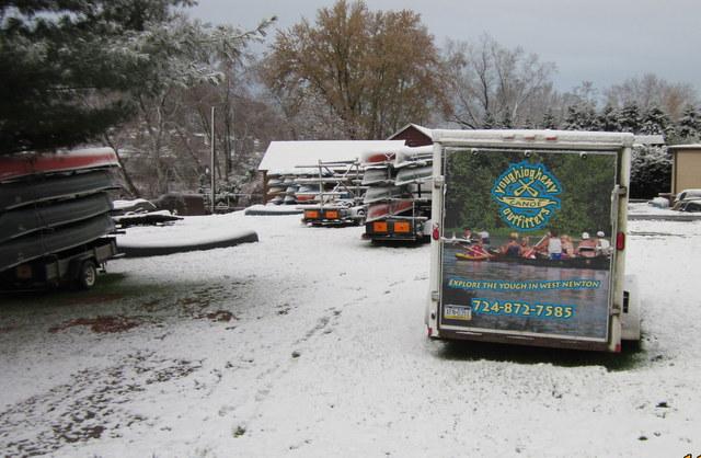 Canoes Hibernate in Winter