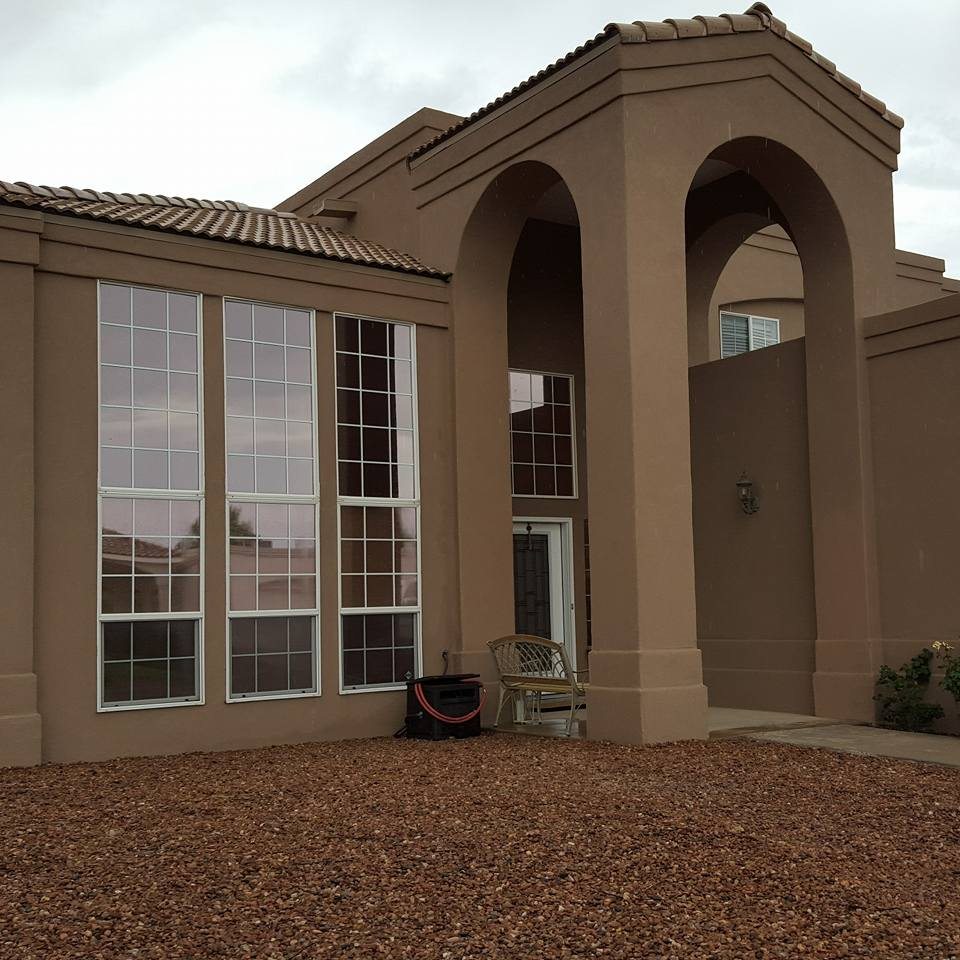 Copper appearance privacy film on this beautiful Rio Rancho