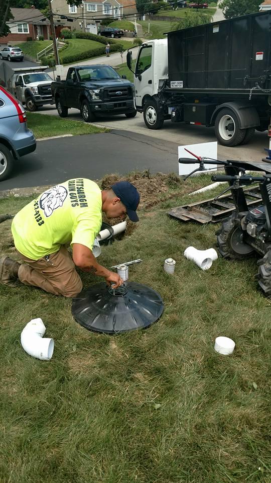 installing yard drainage