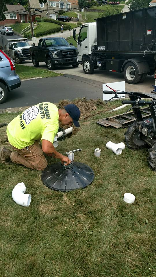 Installing Yard Drainage Pittsburgh