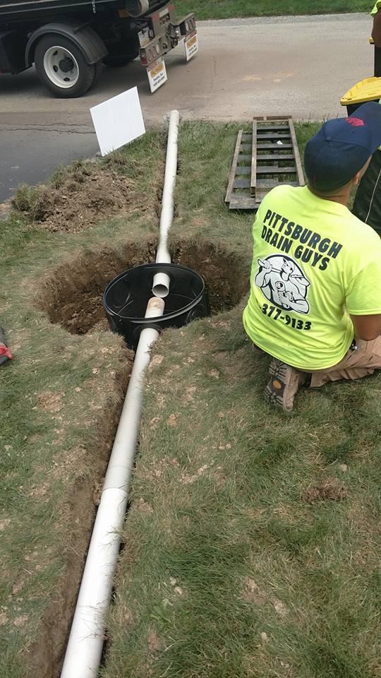 yard drain installation