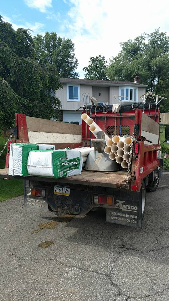 french drain installation in pittsburgh