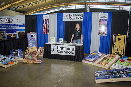 Lightning Cornhole Booth