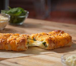 Stuffed Cheesy Bread with Spinach & Feta