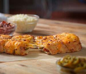 Stuffed Cheese Bread with Bacon & Jalapeno